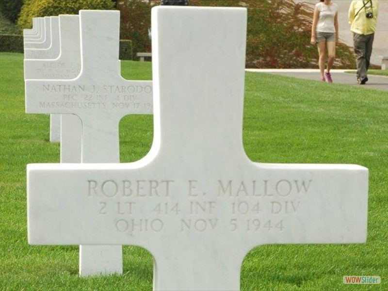 Robert E. Mallow 414th Infantry. Adopted by Michel.