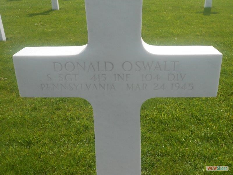 Donald Oswalt 415th Infantry, adopted by Esther.